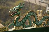 Dragon On A Taoist Temple In Baguio Phlippines