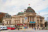 Volkstheater In Vienna, Austria In The Morning