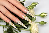 stock photo of nail-design  - Women