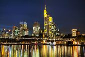 Frankfurt Cityscape At Night
