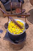 Silk Production Process, Making Of The Cocoon Silkworm From Egg To Worm