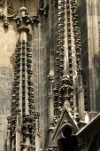 Gothic Element Of St. Stephen's Cathedral In Vienna, Austria