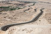 pic of jabal  - Jebel Hafeet mountain road in the outskirts of Al Ain Emirate of Abu Dhabi UAE - JPG