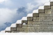 Staircase With Snow