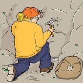 Geologist Collecting Samples