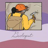 Graphic About Female Geologist