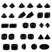 Silhouette Of 3D Geometric For Kid Vector.eps
