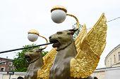 Griffon Sculpture.