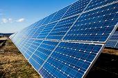 Solar Panel Installation On The Field
