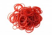 Red Rubber Band On White Background