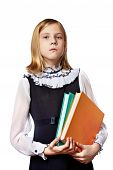 School Girl With Two Books