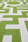 Detail Of A Grass Labyrinth