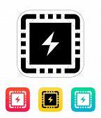 CPU Power icon. Vector illustration.