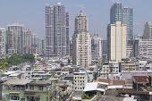 Macau residential area buildings exterior in Macau, China.