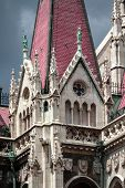 Gothic Parliament Building In Budapest, Decorative Elements