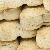Macro shot of dog food biscuits