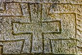 Maltese Cross On Headstone