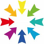 Darts Centripetal Rainbow Gradient