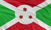 stock photo of burundi  - 3D Burundi flag with fabric surface texture - JPG
