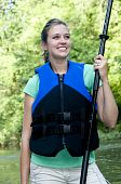 Outdoorsy Female Wearing A Life Jacket