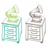 Detached On The Nightstand Retro Gramophone Made In The Thumbnail Style