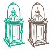 Isolated Image Of A Retro Kerosene Lantern Made In The Thumbnail Style