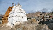 Stupas In Leh And Leh Palace
