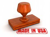 Rubber Stamp Made in USA (clipping path included)