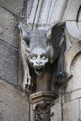 stock photo of gargoyles  - Gargoyle in Notre Dame Cathedral - JPG