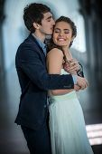 picture of she-male  - Happy couple embracing - JPG