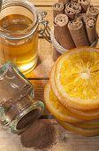 stock photo of cinnamon  - A jar of cinnamon - JPG