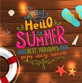 picture of starfish  - Summer Illustration - JPG