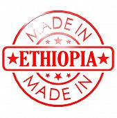 image of ethiopia  - Made in Ethiopia red seal image with hi - JPG