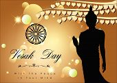 picture of wesak day  - Abstract of Vesak Day The Meditation Day of The World - JPG