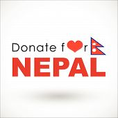 stock photo of tragic  - Help and Donation for NEPAL Earthquaked 2015 - JPG