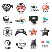 stock photo of production  - biggest collection of vector logos for video production - JPG