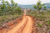 picture of land development  - Roads in rural areas of developing countries - JPG
