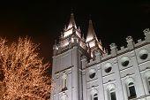 Salt Lake  Mormon Temple At Temple Square