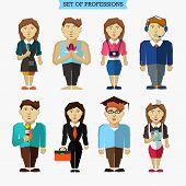 stock photo of yoga instructor  - Set of professions - JPG