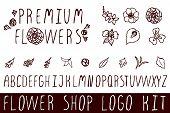 picture of flower shop  - Logo kit with handsketched floral elements for flower shops - JPG