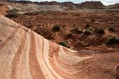 stock photo of valley fire  - The Fire Wave in the Valley of Fire the oldest and biggest State Park in Nevada - JPG