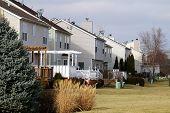 stock photo of illinois  - A suburban neighborhood of tract homes in Illinois - JPG