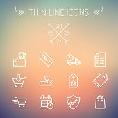 image of monster-truck  - Business shopping thin line icon set for web and mobile - JPG