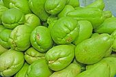 chayote fruit sell in the local market