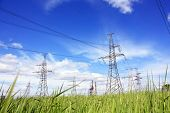stock photo of transmission lines  - Power Line - JPG