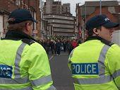 Riot Police face UAF protestors in Luton, UK