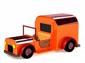 3D Orange Toy Car Isolated