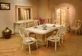 stock photo of speculum  - dining room - JPG