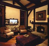Timberframe family room