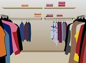 kleding in shop vector